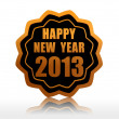 Happy new year 2013 in starlike label — Stock Photo #13515534
