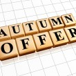 Autumn offer in golden cubes — Stock Photo