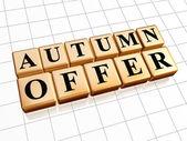 Autumn offer in golden cubes — Stock Photo