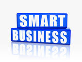 Smart business in blue blocks — Stock Photo