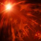 Orange lights with stars — Stock Photo