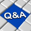 Blue q&a sign in boxes — Stock Photo