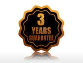 Three years guarantee starlike label — Stock Photo