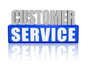 Customer service - letters and block — Stock Photo