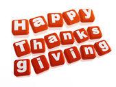 Happy thanksgiving in orange blocks — Stock Photo