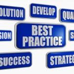 Best practice - blue business concept — Stock Photo