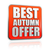 Best autumn offer banner — Foto de Stock