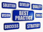 Conceito de negócio melhor prática - azul — Foto Stock