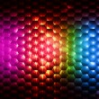 Abstract rainbow colorful hexagons background - Stock Photo
