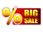 Big sale label with percentage symbol — Stock Photo