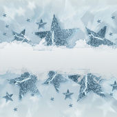 Silver grey stars with text space — Stock Photo