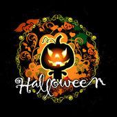 Halloween karta s dýně monster — Stock fotografie