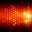 Abstract orange hexagons background — Stock Photo