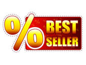 Best seller label with percentage symbol — Stock Photo