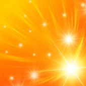 White stars with orange lights — Stock Photo