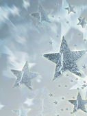 Shining silver stars with radiance — Stock Photo