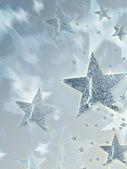 银星星闪烁着光芒 — 图库照片