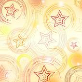 Astratto sfondo beige con cerchi e stelle — Foto Stock