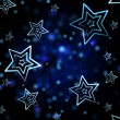 Abstract blue background with white stars — Stock Photo #14082969
