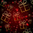Abstract red background with presents — Stock Photo