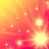 Beyaz yıldız pembe ışıklar ile — Stok fotoğraf