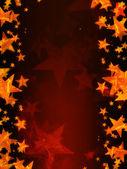 červené pozadí s zářících zlatých hvězd — Stock fotografie
