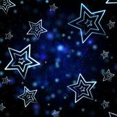 Fondo abstracto azul con estrellas blancas — Foto de Stock