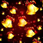 Abstract red background with christmas bells — Stock Photo