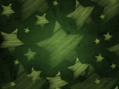 Abstract green background with stars — Stock Photo