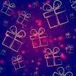 Abstract violet background with presents — Stock Photo