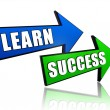 Learn success in arrows — Stock Photo