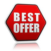 Best offer button — Stock Photo