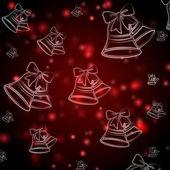 Astratto sfondo rosso con campane di natale — Foto Stock