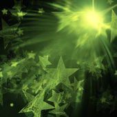 Green stars with lights — Stock Photo