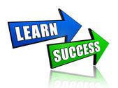 Aprender sucesso em setas — Fotografia Stock