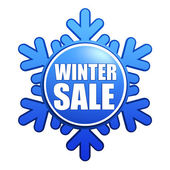 Winter sale snowflake label — Stock Photo