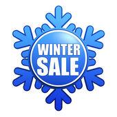 зимние продажи снежинка этикетка — Стоковое фото