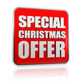 Special christmas offer banner — Stock Photo