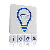 Idea and light bulb symbol in tablets — Stock Photo