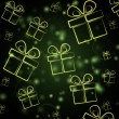 Abstract green background with presents — Stock Photo