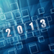Stock Photo: Year 2013 in blue glass blocks