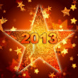 Stock Photo: Golden year 2013 in star