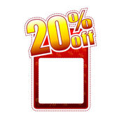 Twenty percentage off label with text space — Stock Photo