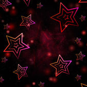 Abstract red background with white stars — 图库照片