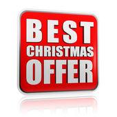 Best christmas offer banner — Stock Photo
