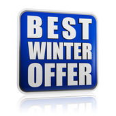 Best winter offer banner — Stock Photo