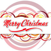 Merry Christmas with coloured circles — Stock Photo