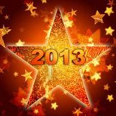 Golden year 2013 in star — Stock Photo