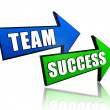 Team and success in arrows — Stock Photo #14920497