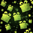Abstract background with green presents — Stock Photo